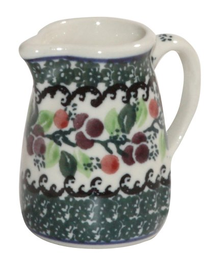 Polish Pottery Miniature Pitcher Toothpick Holder Boleslawiec Ca Pattern 1415