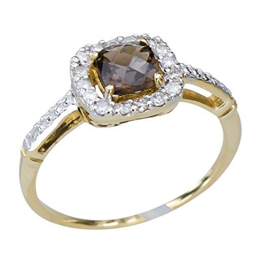 brown-rauchquarz-ring-gold-10k-stilvolle-damen-schmuck-geschenk