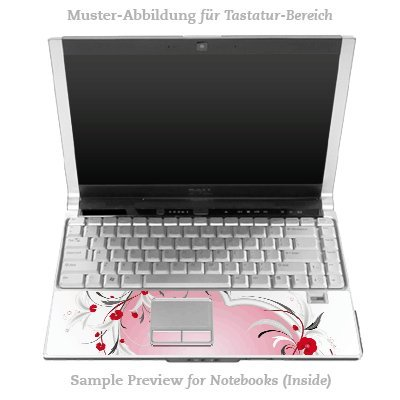 Design Skins für HP EliteBook 2530p Tastatur (Inlay) - Heart Design Folie