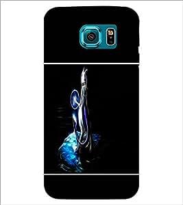 PrintDhaba Vector Fox D-1436 Back Case Cover for SAMSUNG GALAXY S6 EDGE (Multi-Coloured)