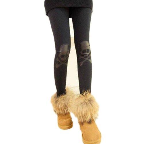TOOGOO(R) Women Thermal Leggings Long Pants Trousers