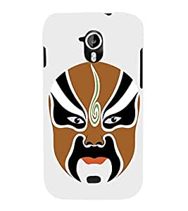 EPICCASE Beijing Opera Full Brown Mask Mobile Back Case Cover For Micromax Canvas 2 A110 (Designer Case)