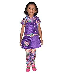 Motley Girls' Dress (ABCE19008_7 Years_Multi color _7 Years)
