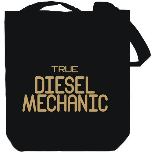 True Diesel Mechanic Black Canvas Tote Bag Unisex