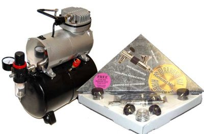 BuyToday BADGER Universal 360 Airbrush Set W ABD TC 20T Tank Compressor