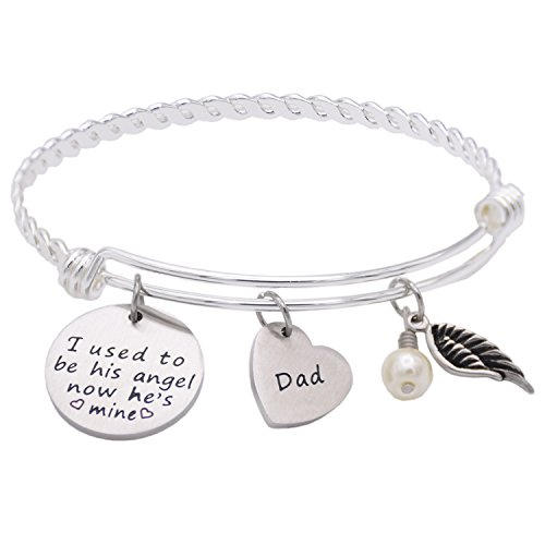 Memorial-Necklace-I-Used-To-Be-His-Angel-Now-Hes-Mine-Necklace-Bracelet-Daddy-In-Memory-Of-Loved-One-Dad