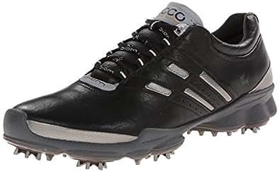 ECCO Men's Biom Golf Shoe, Black/Steel, 39 EU/5-5.5 M US