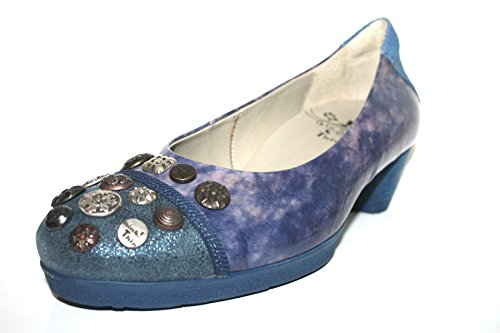 Think Nola 80176 Damen Pumps (39, Blau (water/kombi 86))