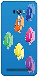 Snoogg A Vector Image Of Jellybean Or Parrot Cichlid Fish In Bright Colours D...