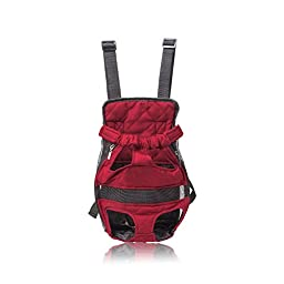 Pettom Front Cat Dog Carrier Backpack Travel Bag Free Your Hands Lightweight and Safe XL