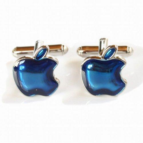 Kamakura cuffs 1 bunch blue Apple cuffs button ( cufflinks ) cf113