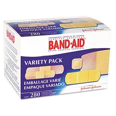 BAND-AID Sheer/Wet Adhesive Bandages, Assorted Sizes, 280/Bo