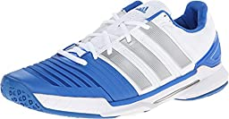 Adidas Men\'s Adipower Stabil 11 Indoor Shoes-White/Silver Metallic/Bright Royal-8