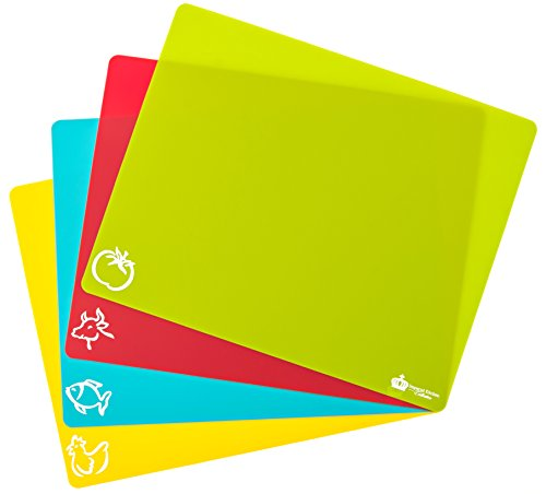 #1 Best Cutting Mat Set. Colorful Kitchen Cutting Board Set, Super Easy Clean Modern Cutting Boards, Nice Flexible Non-Stick Surface.