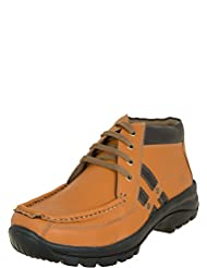 Zovi Men's Synthetic Tan High Ankle Lace-up Casual Shoes (10835708302)