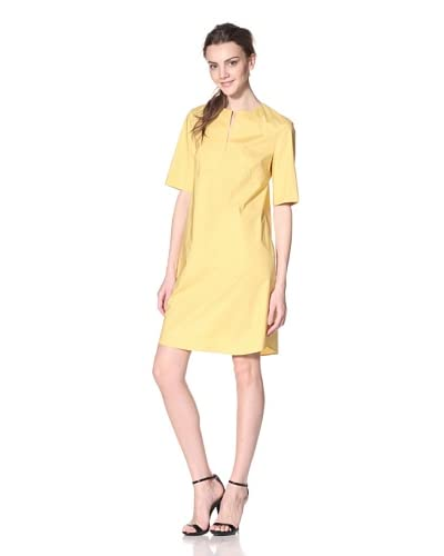 Les Copains Women's Yellow with Short Sleeve Slit Front