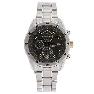 Seiko Men's SNDC51 Chronograph Stainless Steel Grey Dial Watch
