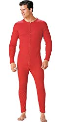 Red Union Suit Original Long Johns Thermal Underwear