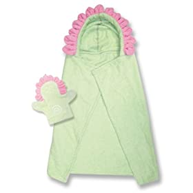 Trend-Lab Character Hooded Towel with Matching Bath Mitt