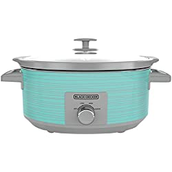 BLACK+DECKER SC2007D 7 Quart Slow Cooker, Slow Cookers, Dial Control, Teal Wave