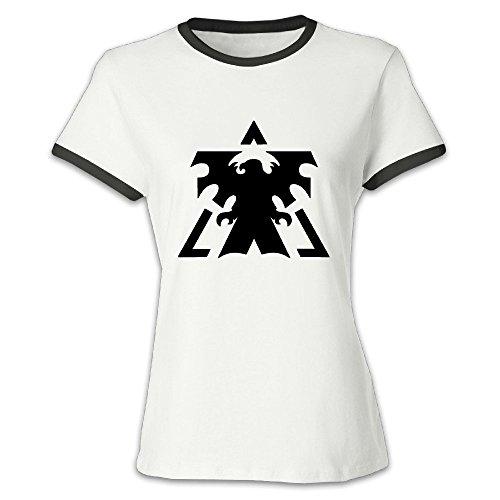 DINGZHITIXU Women's StarCraft Creative T-shirt