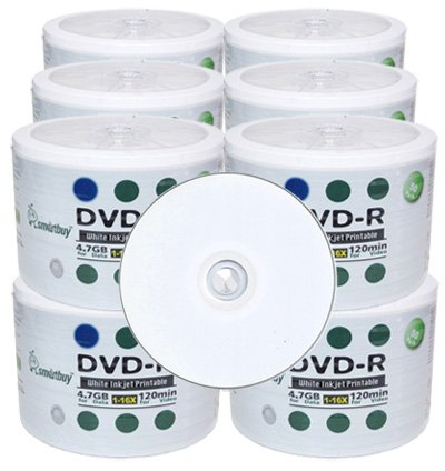 600 Smart buy Recordable DVD Pro DVD-R 16X 4.7 GB White Inkjet Hub Printable