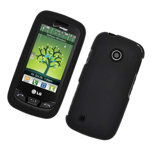 Cell Accessories For Less (Tm) Lg Beacon Un270/Mn270/Vn270 Cosmos Touch Rubber Case Black 01 - By Thetargetbuys