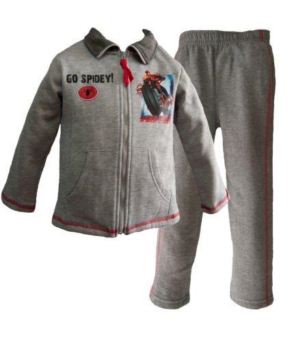 Bambini e ragazzi Marvel Spiderman Tuta da ginnastica / Jogging Completo Grigio Taglia 6 Anni