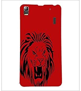 PrintDhaba Lion D-1960 Back Case Cover for LENOVO A7000 (Multi-Coloured)