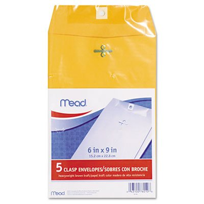 Mead - Clasp Envelopes, Heavyweight, 6x9, Brown Kraft, Sold as 1 Package, MEA 76010 richelle mead succubus heat