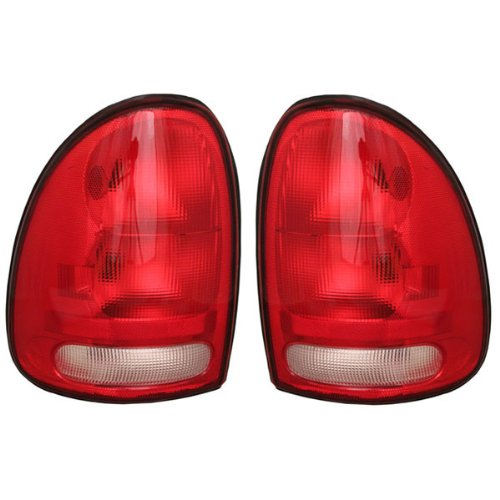1996-00 Chrysler Town & Country, Dodge Caravan, Plymouth Grand Voyager AND 1998-2003 Durango Taillight Taillamp Rear Brake Tail Light Lamp Set Pair Right Passenger AND Left Driver Side (1996 96 1997 97 1998 98 1999 99 2000 00 2001 01 2002 02 2003 03)