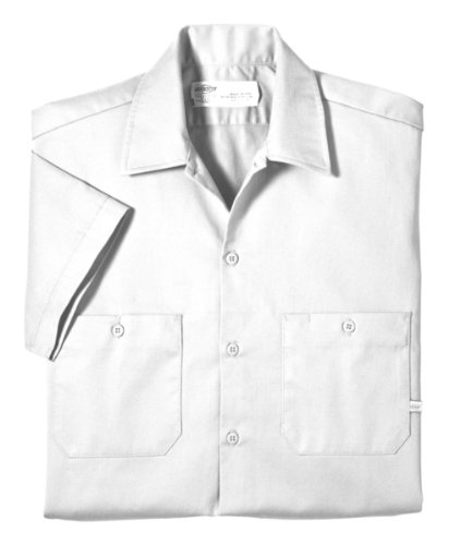 Dickies occupational workwear ls307wh m cotton men 39 s short for White cotton work shirts