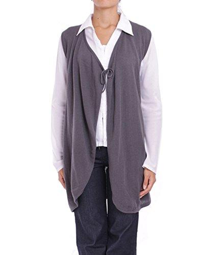 ANTA Q'ULQI - Lungo Cardigan a maglia in Cotone Pima CELESTIAL - grigio, M