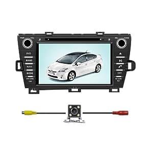 "Bluelotus® In-dash 8"" Car DVD GPS Navigation for Toyota Prius 2010 2011 Left Driving w/ Tv Radio Bluetooth Steering Wheel Control RDS Sd/usb Av + Reverse Car Rear Camera + Free USA Map"