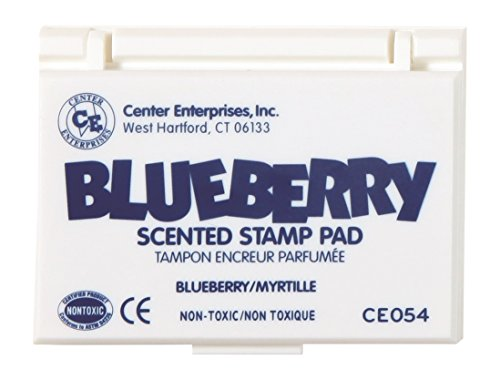Center Enterprise CE054 Blueberry Scented Stamp Pad, Blue