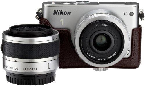 Amazon.co.jp限定Nikon1 J3 HLK+18.5mm/2.8ダブルレンズセットA シルバー N1J3+18.5/2.8SLWLKA
