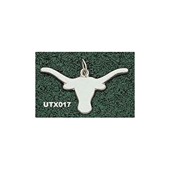 Texas Longhorns Giant 2 1 4 W x 1 1 4 H Solid Longhorn Pendant - 14KT Gold Jewelry by Logo Art