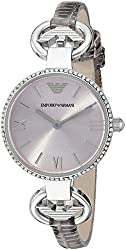Emporio Armani Women's AR1884 Classic Crystal-Accented Stainless Steel Watch