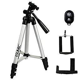 ESUMIC® Professional Rotatable Retractable Tripod Stand Holder Mount For Sony Gopro Camera iPhone 6 5 5S 5C Samsung Note 2 3 Smart Cell Phone (Rotatable Mount + Bluetooth Shutter(black))