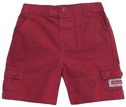 JoJo Maman Bebe Twill Shorts (Baby)-Red-6-12 Months