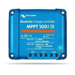 Regolatore di carica solare BlueSolar MPPT ed adatti accessori (3. BlueSolar regolatore 100/15)