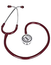 Adult Stainless Steel Stethoscope - Ultima 111 - Burgandy
