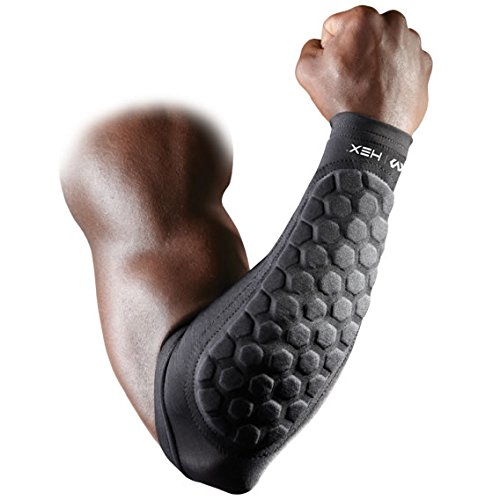 McDavid HexPad Forearm Shivers - Black 651 mcdavid 6566 compression arm sleeves