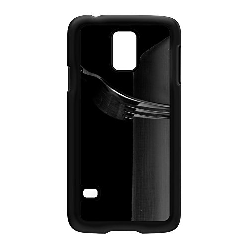 Knife And Fork Black Hard Plastic Case Snap-On Protective Back Cover For Samsung® Galaxy S5 By Mick Agterberg + Free Crystal Clear Screen Protector