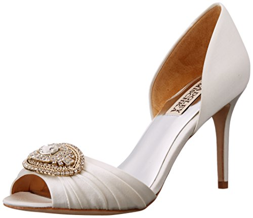Badgley Mischka Women's Melody D'Orsay Pump, White, 7.5 M US