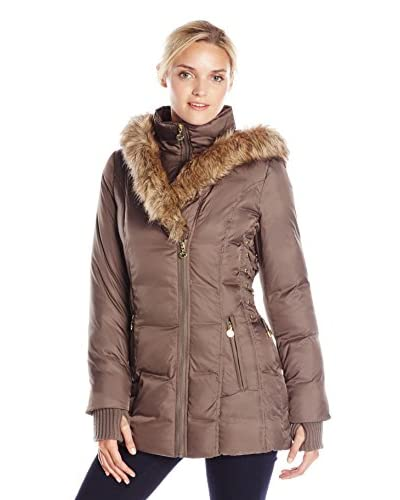 Betsey Johnson Women's Wellon Puffer Jacket with Side Laceup