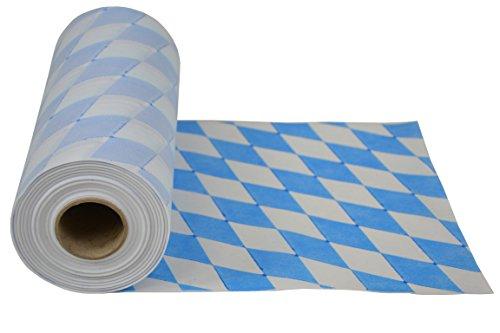 Wiesn-Tischlufer-abwischbar-aus-stoffhnlichem-Vlies-Rolle-30-cm-x-25m-Bayernmuster-ko-Tex-100-ideal-fr-jede-Party-Oktoberfest