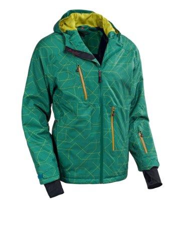 maier sports Herren Jacke mTEX print Bootrecord, green allover, XXL, 121191_8672