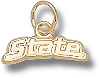 Michigan State Spartans State 3 16 Charm - 14KT Gold Jewelry by Logo Art