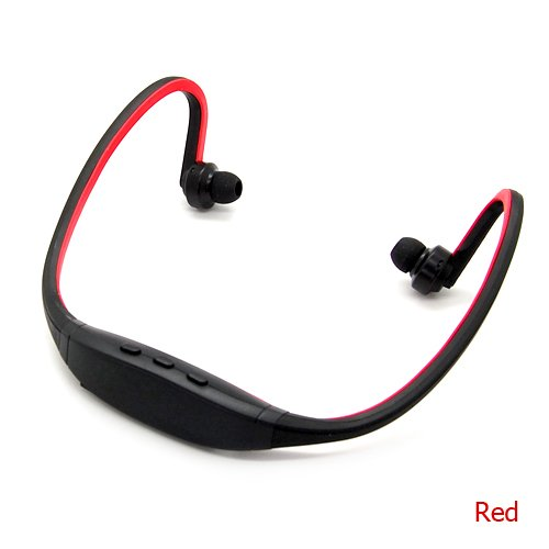 Wireless Sports Bluetooth Stereo Headset Earphone For Apple Ipad Mini Ipad Air (Red)